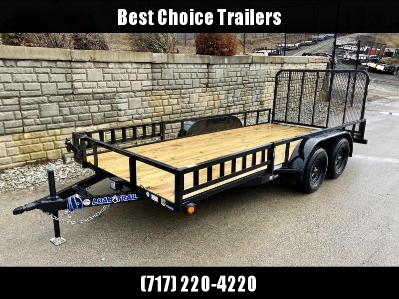 "2020 Load Trail 7x16' ATV Utility Landscape Trailer 7000# GVW * TUBE TOP * ATV RAMPS * SPARE MOUNT * 4"" CHANNEL FULL WRAP TONGUE * TUBE BUMPER * ALL LED'S * TIE DOWNS * TUBE GATE C/M * CAST COUPLER * COLD WEATHER HARNESS * DEXTER'S * PRIMER * 2-3-2 WARRAN"