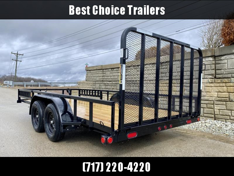 2020 Load Trail 7x16' Tube Top ATV Utility Landscape Trailer 7000# GVW * UE8316032-ATV * TUBE TOP * ATV RAMPS * DEXTER'S * 2-3-2 WARRANTY * SPARE MOUNT * CAST COUPLER * FOLD IN GATE * PRIMER