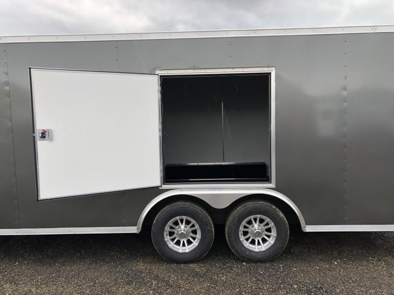 "2019 Sure-Trac 8.5x20' Enclosed Car Trailer 9900# GVW * DELUXE * WHITE * 7K JACK * ESCAPE HATCH * FINISHED WALLS * NUDO FLOOR & RAMP * TORSION * 48"" DOOR & MORE * CLEARANCE"