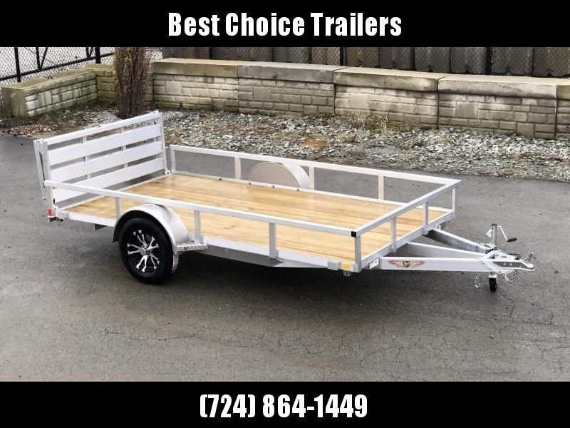 "2020 H&H 5.5x10' Aluminum Utility Landscape Trailer 2990# GVW * BI FOLD GATE * ALUMINUM WHEELS * TUBE TOP * TRIPLE TUBE TONGUE * TUBE TONGUE * SWIVEL JACKS * STAKE POCKETS * EXTENDED 54"" GATE"
