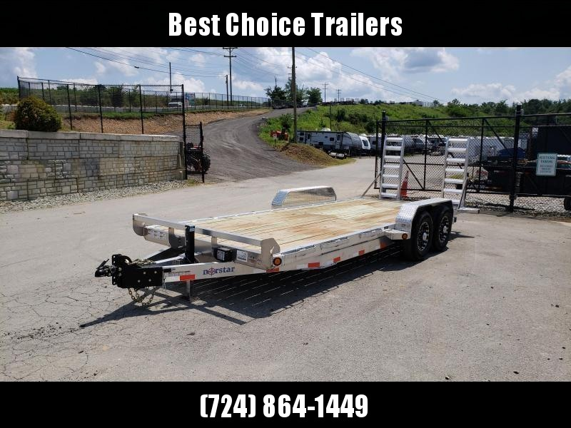 2019 Ironbull 7x20' Aluminum Equipment Trailer 14000# GVW * STACKED ALUMINUM FRAME * DEXTER AXLES * ALUMINUM STAND UP RAMPS * ALUMINUM WHEELS * RUBRAIL/STAKE POCKETS/CHAIN SPOOLS/D-RINGS * REMOVABLE FENDERS * CLEARANCE