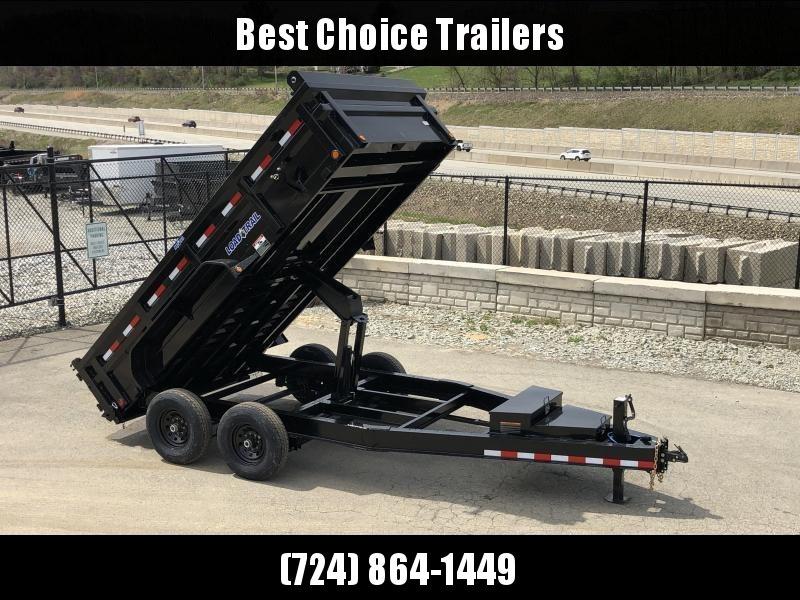 "2019 Load Trail 7x16' Dump Trailer 14000# GVW * DH8316072 * 7 GAUGE FLOOR * EXTRA 2-TIER TOOLBOX * EXTENDED TONGUE * MAX RAIL * 8"" I-BEAM FRAME * 12K JACK * 3-WAY GATE * TARP KIT * SCISSOR HOIST * 6"" TUBE BED FRAME"