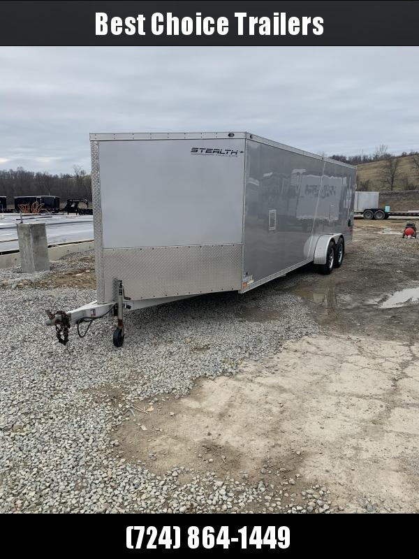 USED 2013 Stealth 7x29' All Aluminum Enclosed Snowmobile Trailer * 4-PLACE SLED * FRONT RAMP * ALUMINUM WHEELS * FINISHED INTERIOR