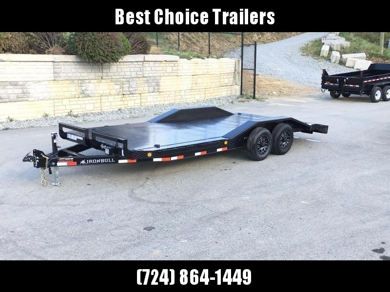"2019 Ironbull 102""x20' Steel Deck Car Trailer 9990# GVW * STEEL DECK  * 102"" DECK * DRIVE OVER FENDERS * 16"" O.C. FLOOR * 6"" FRAME * BUGGY HAULER * ALUMINUM WHEELS - CLEARANCE"