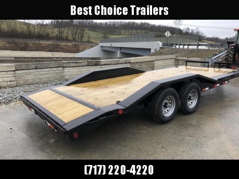 "2020 Ironbull 102""x22' Wood Deck Car Trailer 9990# GVW * 102"" DECK * DRIVE OVER FENDERS * 16"" O.C. FLOOR * 6"" FRAME * BUGGY HAULER"