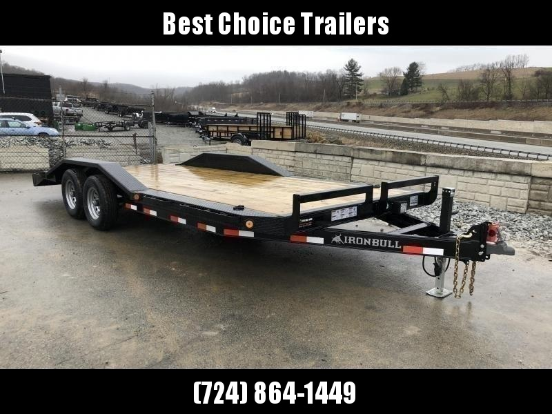 "2020 Ironbull 102""x22' Buggy Hauler Car Trailer 9990# GVW * 102"" DECK * DRIVE OVER FENDERS * 16"" O.C. FLOOR * 6"" CHANNEL TONGUE/FRAME * CHANNEL C/M * RUBRAIL/STAKE POCKETS/PIPE SPOOLS/D-RINGS * ADJUSTABLE COUPLER * DROP LEG JACK * DEXTER'S"