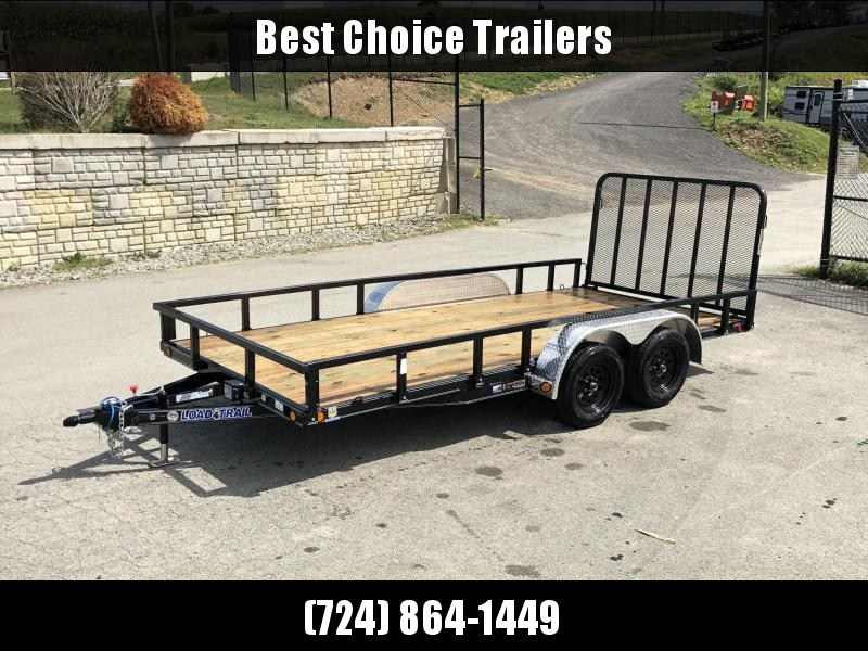 2019 Load Trail 7x16' Commercial Utility Landscape Trailer * XT8316032 * REMOVABLE SIDES * CHANNEL FRAME * TUBE GATE * ALUMINUM FENDERS