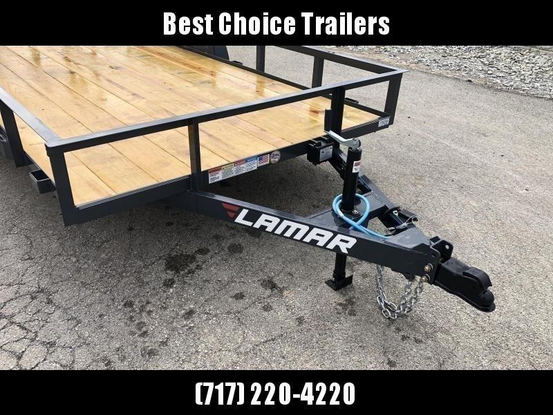 2020 Lamar 7x14' Utility Landscape Trailer 7000# GVW * CHARCOAL * HD GATE W/ SPRING ASSIST