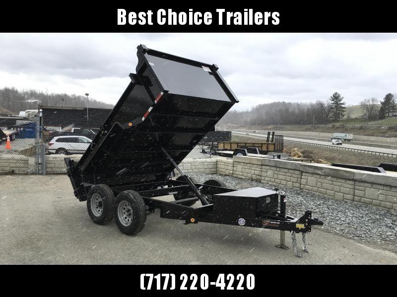 2020 QSA 6x10' Low Profile SD Dump Trailer 9850# GVW * 2' SIDES * OVERSIZE TOOLBOX * DROP LEG JACK * FRONT/REAR BULKHEAD