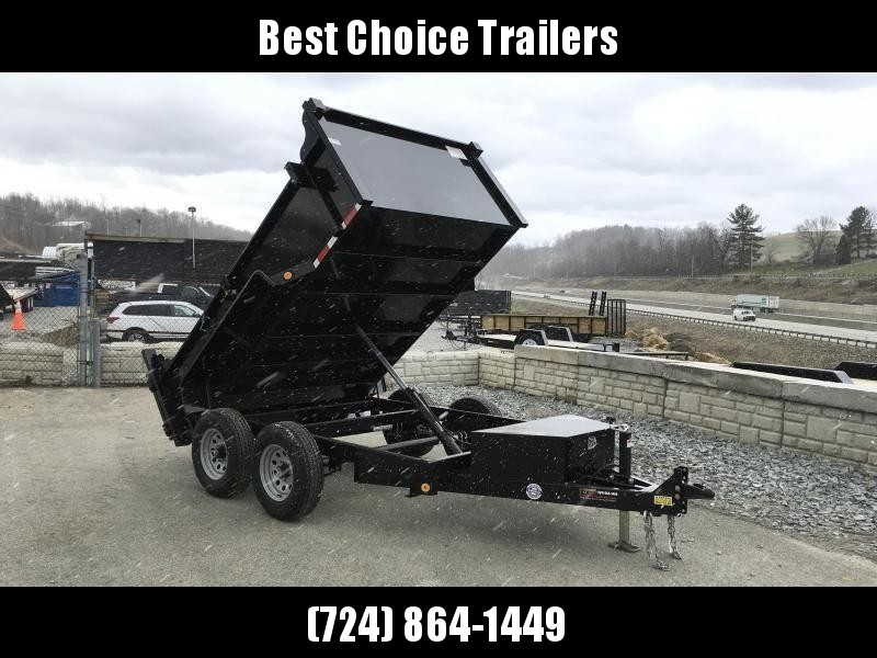 2020 QSA 6x10' Low Profile SD Dump Trailer 9850# GVW * 2' SIDES * OVERSIZE TOOLBOX * DROP LEG JACK * FRONT/REAR BULKHEAD