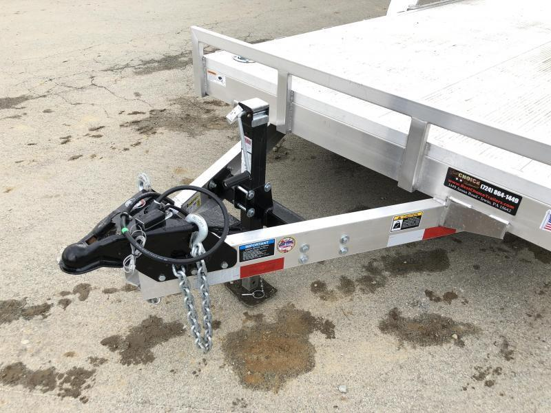 NEW H&H 7x20 HDA Aluminum Equipment Trailer 9990# GVW * EXTRUDED ALUMINUM FLOOR * TORSION * SWIVEL D-RINGS * EXTRA STAKE POCKETS * CLEARANCE