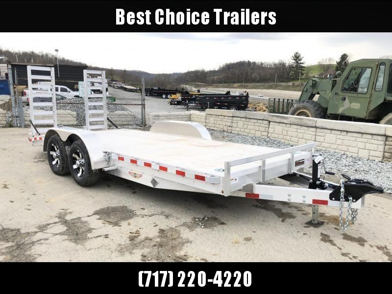 NEW H&H 7x20' Aluminum Equipment Trailer 9990# GVW * EXTRUDED ALUMINUM FLOOR * TORSION * SWIVEL D-RINGS * EXTRA STAKE POCKETS * CLEARANCE