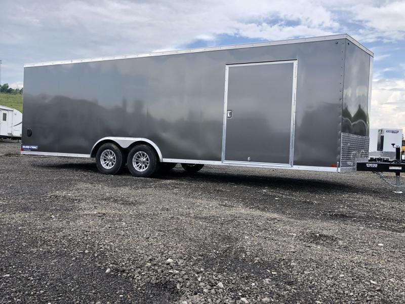 2020 Sure-Trac 8.5x24' Enclosed Car Trailer 9900# GVW * CHARCOAL * 7K DROP LEG JACK * SCREWLESS * ALUMINUM WHEELS