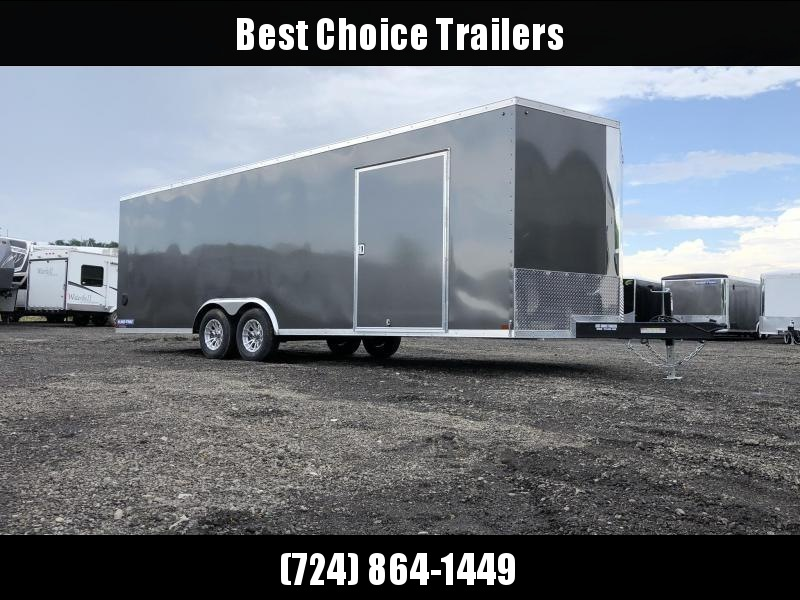 2020 Sure-Trac 8.5x24' Enclosed Car Trailer 9900# GVW * CHARCOAL * 7K DROP LEG JACK * SCREWLESS * ALUMINUM WHEELS