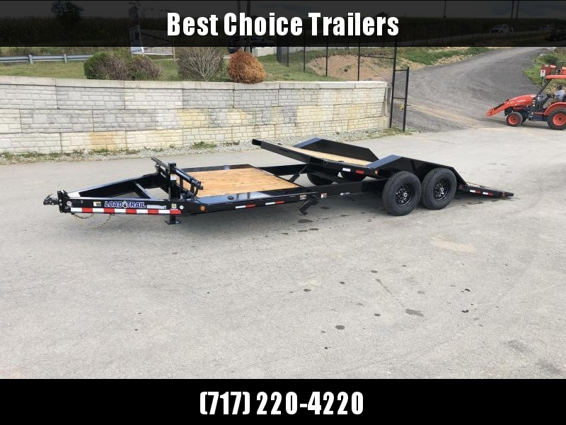 "2020 Load Trail 102x20' Gravity Tilt Equipment Trailer 14000# GVW * 16+4' SPLIT DECK * 102"" DECK W/ DRIVE OVER FENDERS * 8"" I-BEAM MONOFRAME * DEXTER TORSION AXLES * GRAVITY TILT W/ STOP VALVE * TOOL TRAY * WINCH PLATE * RUBRAIL * D-RINGS * 2-3-2 WARRANTY"