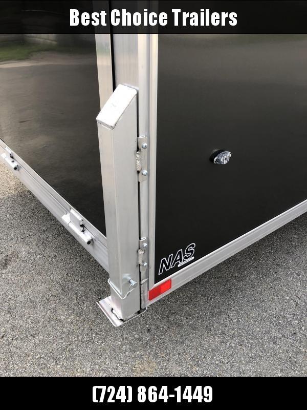 "2020 Neo 7x28' NASF Aluminum Enclosed All-Sport Trailer 7000# GVW * 7' HEIGHT UTV PKG * SILVER EXTERIOR * FRONT/REAR NXP RAMP * VINYL WALLS * SPORT TIE DOWN SYSTEM * 16"" O.C. FLOOR * PRO STAB JACKS * UPPER CABINET * ALUMINUM WHEELS * SCREWLESS * 1 PC ROOF"
