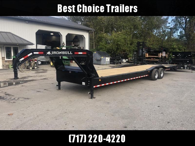 "2020 Ironbull 102x32' Gooseneck 2-Car Hauler Trailer 14000# GVW * FULL WIDTH RAMPS * 102"" DECK * DRIVE OVER FENDERS * BUGGY HAULER * DUAL JACKS * TOOLBOX"