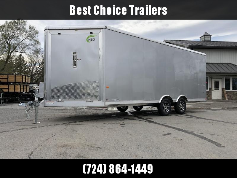 2020 NEO 8.5x20' NMS Aluminum Enclosed All Sport Car Hauler Trailer 7000# GVW * FINISHED WALLS * FRONT RAMP * ALUMINUM WHEELS * ROUND TOP
