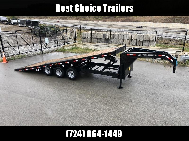 "2020 Ironbull 102""x26' Gooseneck Deckover Power Tilt 21000# GVW * HYDRAULIC JACKS * WIRELESS REMOTE * WINCH PLATE * TRIPLE AXLE * SLIDING WINCH TRACK * CLEARANCE"