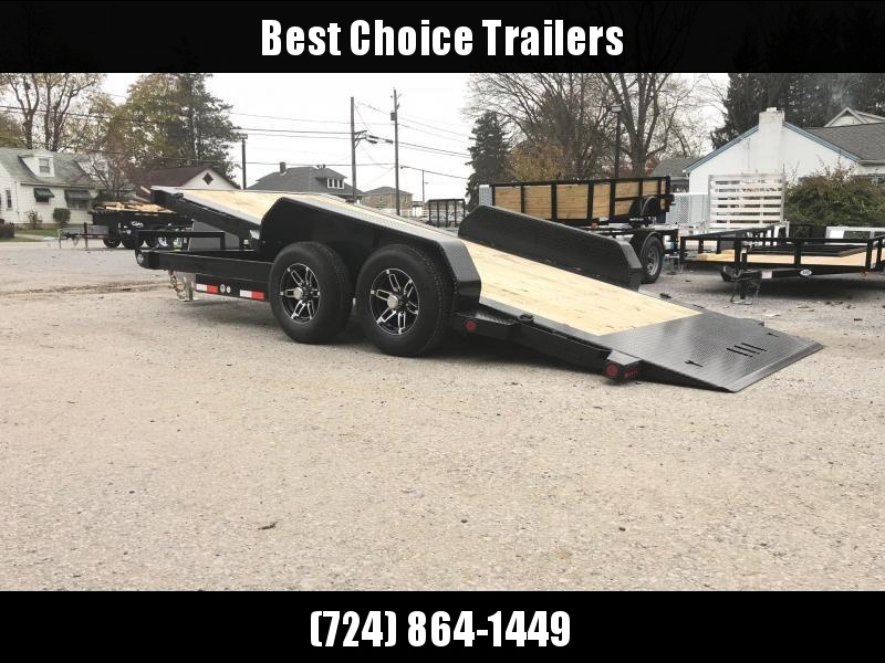 "2019 Ironbull 7x16' Power Tilt Equipment Trailer 9990# GVW * POWER TILT * DEXTER TORSION AXLES * 6"" CHANNEL TONGUE/FRAME * REMOVABLE FENDERS * 16"" O.C. C/M * RUBRAIL/STAKE POCKETS/PIPE SPOOLS/D-RINGS * ADJUSTABLE CAST COUPLER * 7K JACK * CLEARANCE"