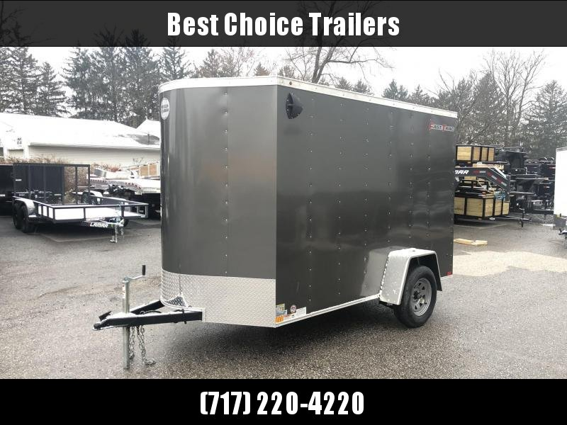 "2020 Wells Cargo 6x10' Fastrac DELUXE Enclosed Cargo Trailer 2990# GVW * CHARCOAL EXTERIOR * RAMP DOOR * .030 EXTERIOR * 1PC ALUM ROOF * 6'6"" HEIGHT * TUBE STUDS * 16"" O.C WALLS"