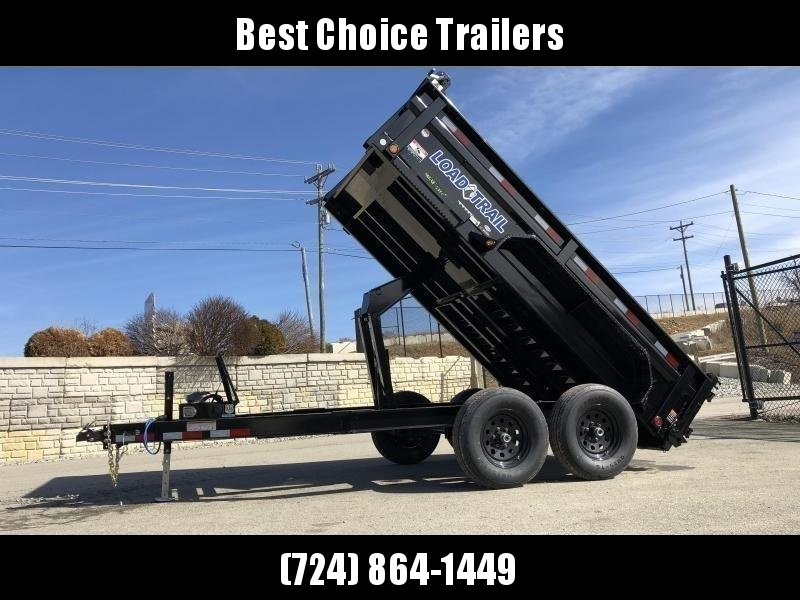 """2020 Load Trail 7x12' Dump Trailer 9990# GVW * DT8312052 * 2' SIDES * 3-WAY GATE * I-BEAM FRAME * TARP KIT * SCISSOR HOIST * 16"""" RUBBER * 6"""" TUBE BED FRAME * 110V CHARGER * DEXTER'S * 2-3-2 * POWDER PRIMER"""