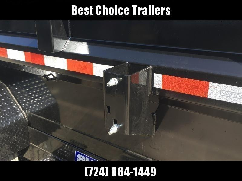 2020 Sure-Trac 7x12' Dump Trailer 12000# GVW * DUAL PISTON * FRONT/REAR BULKHEAD * INTEGRATED KEYWAY * 2' SIDES * UNDERBODY TOOL TRAY * ADJUSTABLE COUPLER * 110V CHARGER * UNDERMOUNT RAMPS * COMBO GATE * 7K DROP LEG JACK * SPARE MOUNT