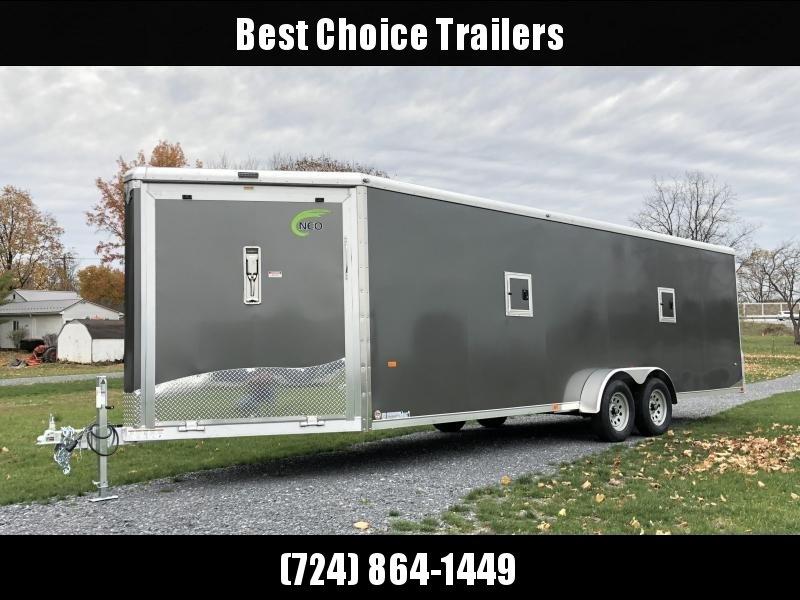 2019 Neo 7x28' NASR Aluminum Enclosed All-Sport Trailer * DELUXE MODEL * SILVER * UTV * ATV * Motorcycle * Snowmobile