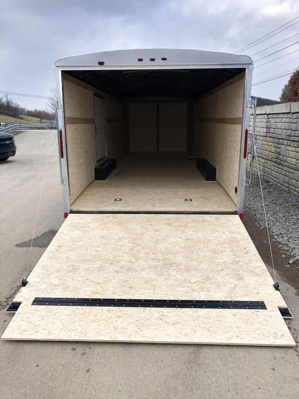 "2020 Wells Cargo 8.5x24' Road Force Enclosed Car Trailer 9990# GVW * SILVER EXTERIOR * ESCAPE DOOR * 5200# DEXTER TORSION AXLES * RAMP DOOR * ROUND TOP * SCREWLESS .030 EXTERIOR * 6'6"" HEIGHT * TUBE STUDS * 1 PC ROOF * RV DOOR * ARMOR GUARD * TRIPLE TONGU"