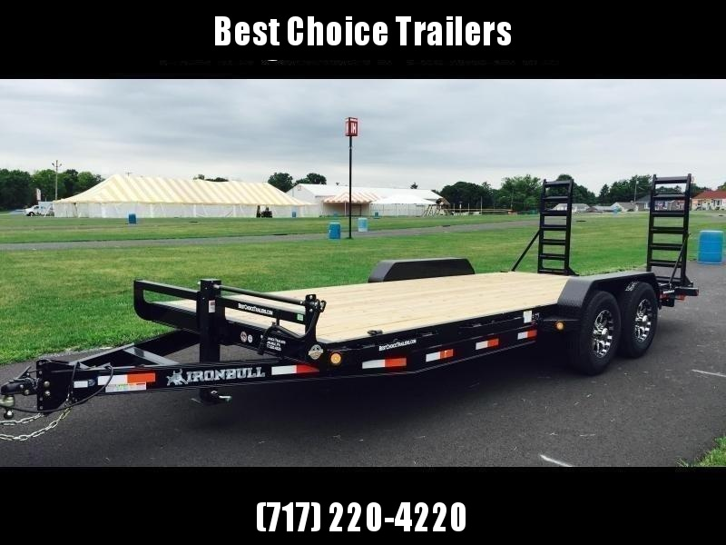 2019 Ironbull 7x20' Equipment Trailer 14000# GVW * RUBRAIL/STAKE POCKETS/PIPE SPOOLS/D-RINGS * ADJUSTABLE KNEE * KNIFEEDGE RAMP * REMOVABLE FENDERS