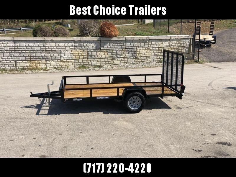 """2020 Sure-Trac 6x10' Tube Top Utility Landscape Trailer 2990# GVW * 2"""" TUBE TOP RAIL * 2X2"""" TUBE GATE C/M + SPRING ASSIST + FOLD FLAT * TOOLESS GATE REMOVAL * SPARE MOUNT * PROTECTED WIRING * SET BACK JACK * TRIPLE TUBE TONGUE * STAKE POCKETS * BULLET LED"""