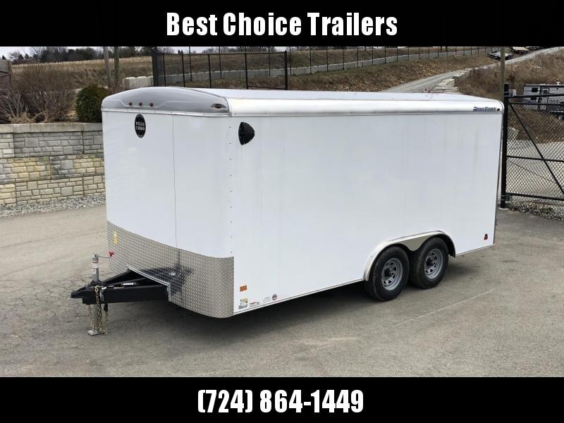 2020 Wells Cargo 8.5x16' Road Force Enclosed Cargo Trailer 9990# GVW * WHITE EXTERIOR * RAMP DOOR