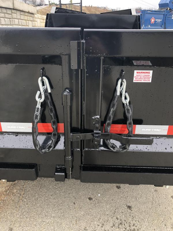 2019 Sure-Trac 7x14' Gooseneck Dump Trailer 14000# GVW * NEW I-BEAM NECK AND FULL FRONT TOOLBOX