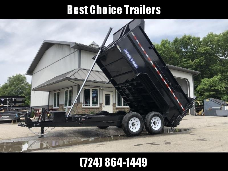 2020 Sure-Trac 7x12' Low Profile Hydraulic Dump Trailer 14000# * 4' HIGH SIDES + BULKHEAD * TELESCOPIC HOIST * 12K JACK