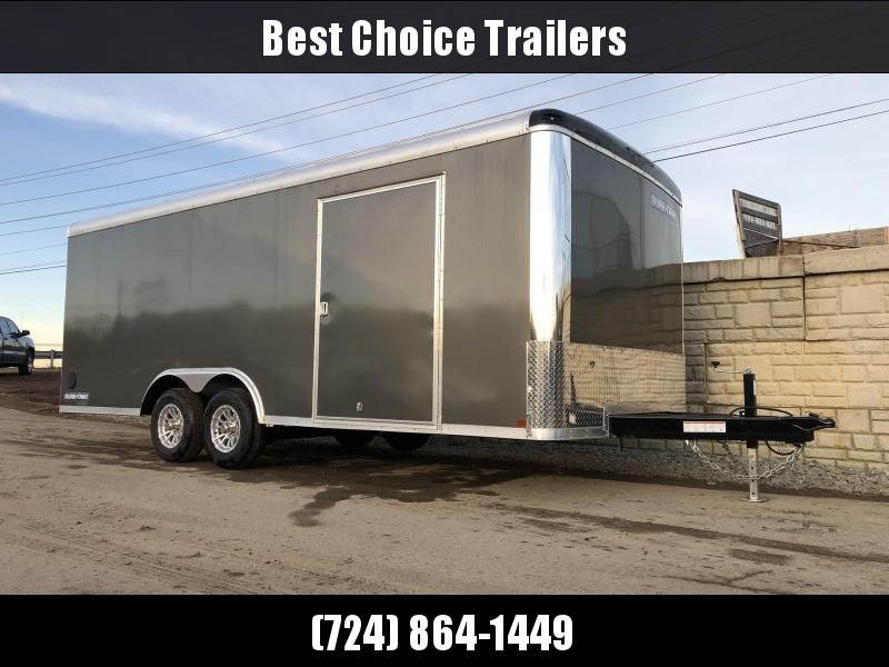 2020 Sure-Trac 8.5x20' 9900# STRCH Commercial Enclosed Cargo Trailer * ROUND TOP * RAMP DOOR  * CHARCOAL