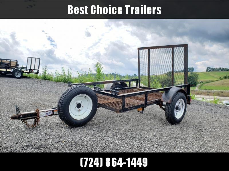 USED 2009 Pace American 4x6' Angle Iron Utility Landscape Trailer