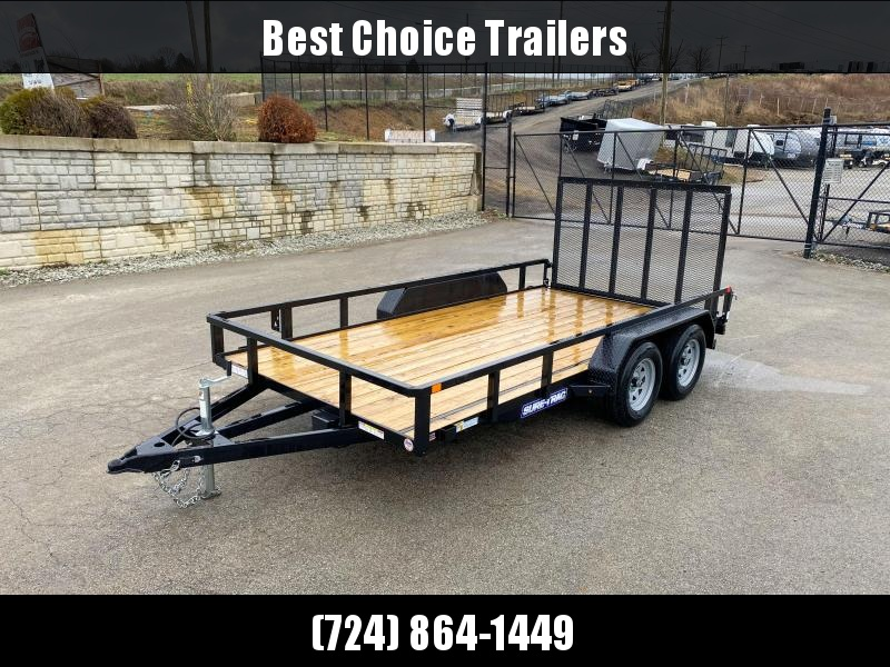 """2020 Sure-Trac 7x14' Tube Top Utility Landscape Trailer 7000# GVW * 2"""" TUBE TOP RAIL * 2X2"""" TUBE GATE C/M + SPRING ASSIST + FOLD FLAT * TOOLESS GATE REMOVAL * SPARE MOUNT * PROTECTED WIRING * SET BACK JACK * TRIPLE TUBE TONGUE * STAKE POCKETS * BULLET LED"""