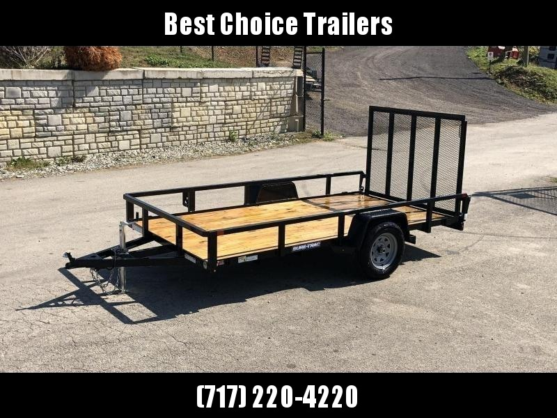 """2020 Sure-Trac 6x12' Tube Top Utility Landscape Trailer 2990# GVW * 2"""" TUBE TOP RAIL * 2X2"""" TUBE GATE C/M + SPRING ASSIST + FOLD FLAT * TOOLESS GATE REMOVAL * SPARE MOUNT * PROTECTED WIRING * SET BACK JACK * TRIPLE TUBE TONGUE * STAKE POCKETS * BULLET LED"""