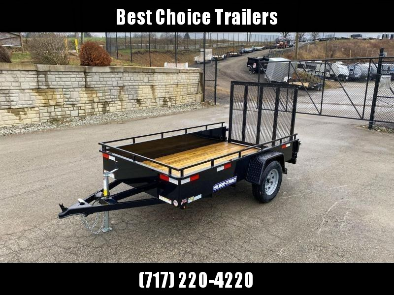 "2019 Sure-Trac 5x10' Solid Side Utility Landscape Trailer 2990# GVW * 2X2"" TUBE GATE C/M + SPRING ASSIST * FOLD FLAT GATE * TOOLESS GATE REMOVAL * SPARE MOUNT * PROTECTED WIRING * SET BACK JACK * TRIPLE TUBE TONGUE * HD FENDERS * TUBE BUMPER * HIGH SIDE *"