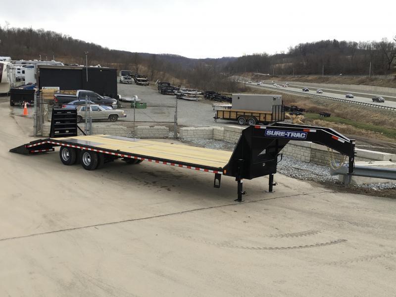 2019 Sure-Trac 102x27+5 22K Gooseneck Beavertail Deckover Trailer * PIERCED FRAME * FULL WIDTH RAMPS