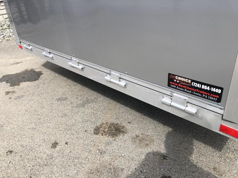 NEW NEO 8.5x20' NCBS Aluminum Enclosed Car Trailer 9990# GVW * NUDO FLOOR & RAMP * FULL ESCAPE DOOR * SPREAD AXLE * INTEGRATED FRAME * REAR SPOILER * ALUMINUM WHEELS * SCREWLESS * 1PC ROOF * RV DOOR * NXP LATCHES * CLEARANCE