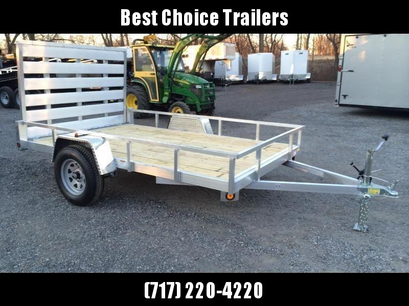 """2020 QSA 6x12' Aluminum Utility Landscape Trailer 2990# GVW * STANDARD MODEL * TUBE FRAME AND TONGUE * SPARE MOUNT * TIE DOWNS * 4' FOLD IN GATE * LED'S * FENDER GUSSETS * 3500# AXLE * 15"""" TIRES * TUBE TOP RAIL * CLEARANCE"""