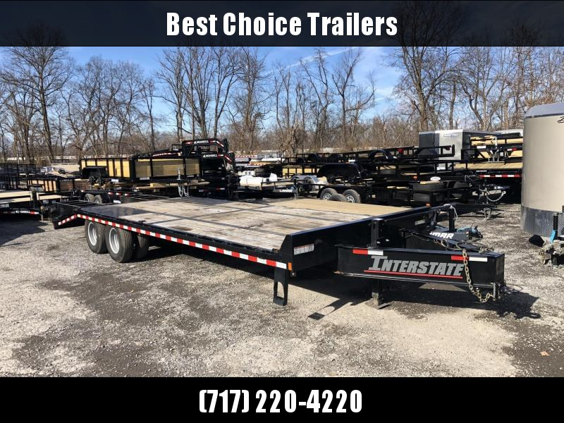 "USED 2018 Sure-Trac 102x25' HD Beavertail Deckover Trailer 22500# GVW * PAVER SPECIAL * OAK BEAVERTAIL/DECK/RAMPS * DEXTER AXLES * FLIPOVER RAMPS * 12"" I-BEAM * PIERCED FRAME * (10) 1"" D-RINGS * CROSS TRAC BRACING * CLEARANCE"