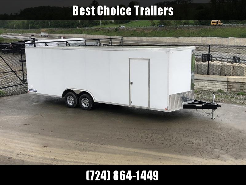 2019 Sure Trac 8.5x24' 9900# STW Commercial Enclosed Cargo Trailer * V-NOSE * RAMP DOOR * WHITE * ALUMINUM WHEELS * CLEARANCE