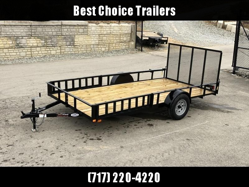 2019 AMO 7x14' Angle Iron Utility Landscape Trailer 2990# GVW w/ Gate * ATV RAMPS * FULL WRAP TONGUE * ALL LED LIGHTS