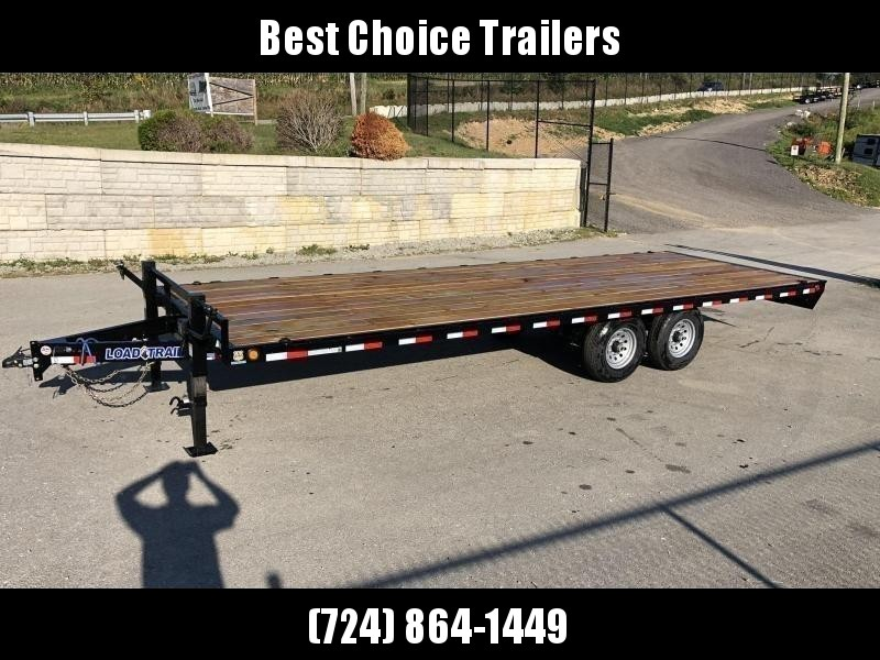 2020 Load Trail 102x20' Deckover Flatbed Trailer * 8' SLIDE IN RAMPS * 12K JACK * ADJUSTABLE COUPLER * RUBRAIL/STAKE POCKETS/PIPE SPOOL/D-RINGS * LED LIGHTS * DEXTER AXLES * CHANNEL SIDE RAIL * PRIMER * 2-3-2 WARRANTY