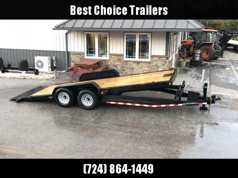 2020 Ironbull 7x20 Power Tilt Equipment Trailer 14000# GVW * 12K HYDRAULIC JACK * LOW LOADING ANGLE * POWER TILT * WINCH PLATE * DEXTER TORSION AXLES * REMOVABLE FENDERS * RUBRAIL/STAKE POCKETS/PIPE SPOOLS/D-RINGS * 2-3-2 WARRANTY