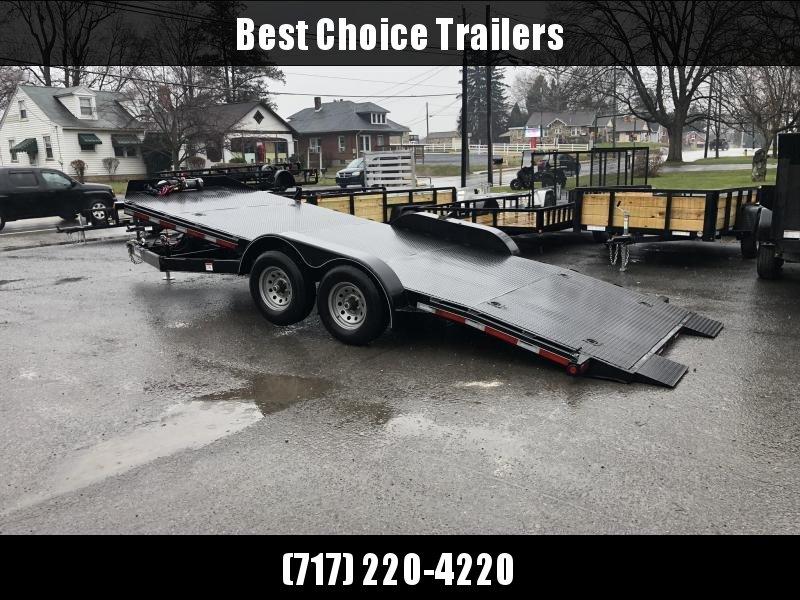 USED 2019 Appalachian 7x20' Power Tilt Car Hauler Trailer * STEEL DECK * POWER TILT * WINCH * LOTS OF TIE DOWNS