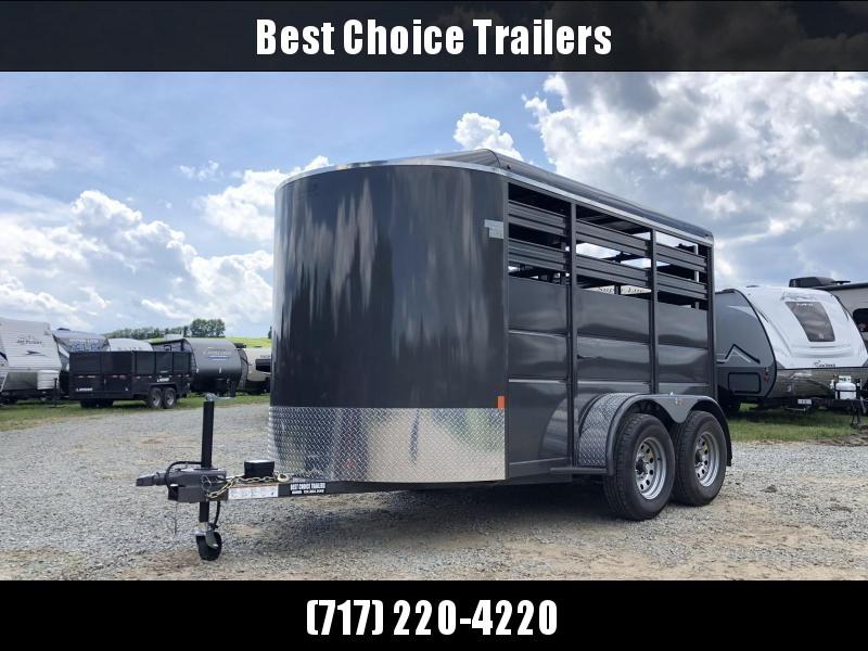 2020 Delta 12' Livestock Trailer 7000# GVW * GREY * DIVIDER GATE * ESCAPE DOOR * DEXTER