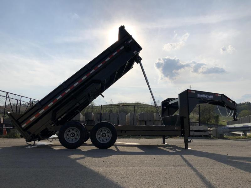 2020 Sure-Trac 7x14' 14000# Low Profile HD GOOSENECK Dump Trailer - TELESCOPIC HOIST